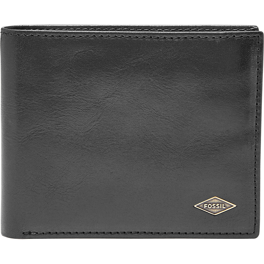 Fossil Ryan Flip ID Bifold Black - Fossil Mens Wallets - Work Bags & Briefcases, Men's Wallets