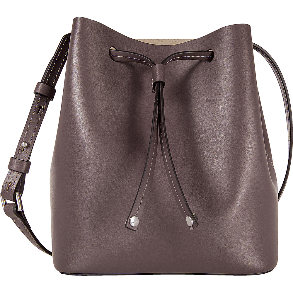 Lodis Blair Blake Small Drawstring Crossbody Lava/Taupe - Lodis Leather Handbags - Handbags, Leather Handbags