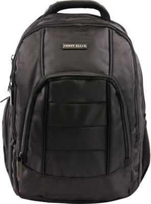 Perry Ellis M200 Business Laptop Backpack Black - Perry Ellis Business & Laptop Backpacks