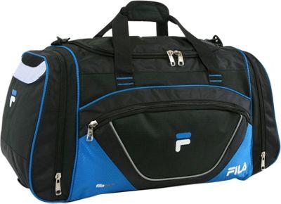 Fila Acer Large Sport Duffel Bag Black/Blue - Fila Gym Duffels