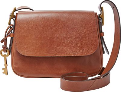 Fossil Harper Small Saddle Crossbody Brown - Fossil Leather Handbags