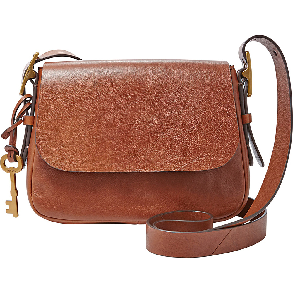 Fossil Harper Small Saddle Crossbody Brown - Fossil Leather Handbags - Handbags, Leather Handbags