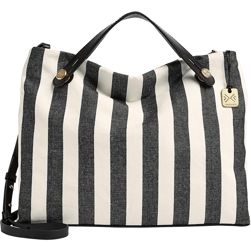 Skagen Mikkeline Shoulder Bag Black Stripe(808) - Skagen Fabric Handbags