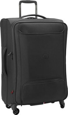 Delsey Chatillon Expandable Spinner Trolley - 25 inch Black - Delsey Softside Checked