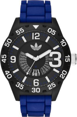 adidas watches adidas watches Newburgh Three Hand Silicone Watch Blue - adidas watches Watches