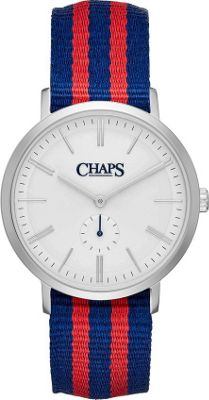 Chaps Dunham Striped Canvas Two-Hand Watch Blue - Chaps Watches