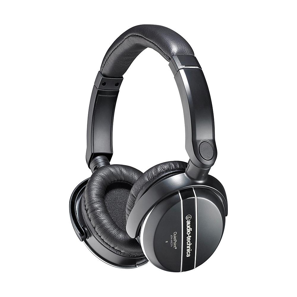 Audio Technica QuietPoint Active Noise Cancelling Headphones Black Audio Technica Headphones Speakers
