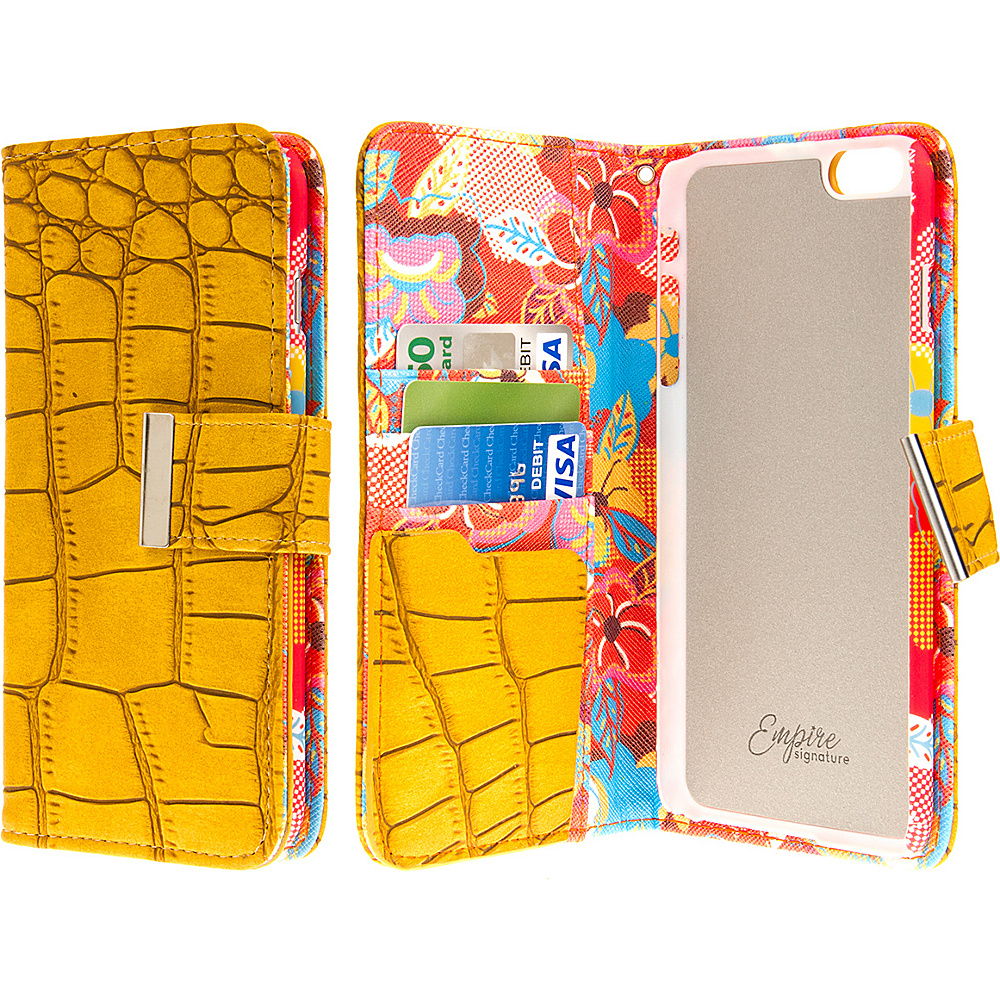 EMPIRE KLIX Klutch Designer Wallet Cases Apple iPhone 6 Plus iPhone 6S Plus Vintage Flower Pop! EMPIRE Electronic Cases