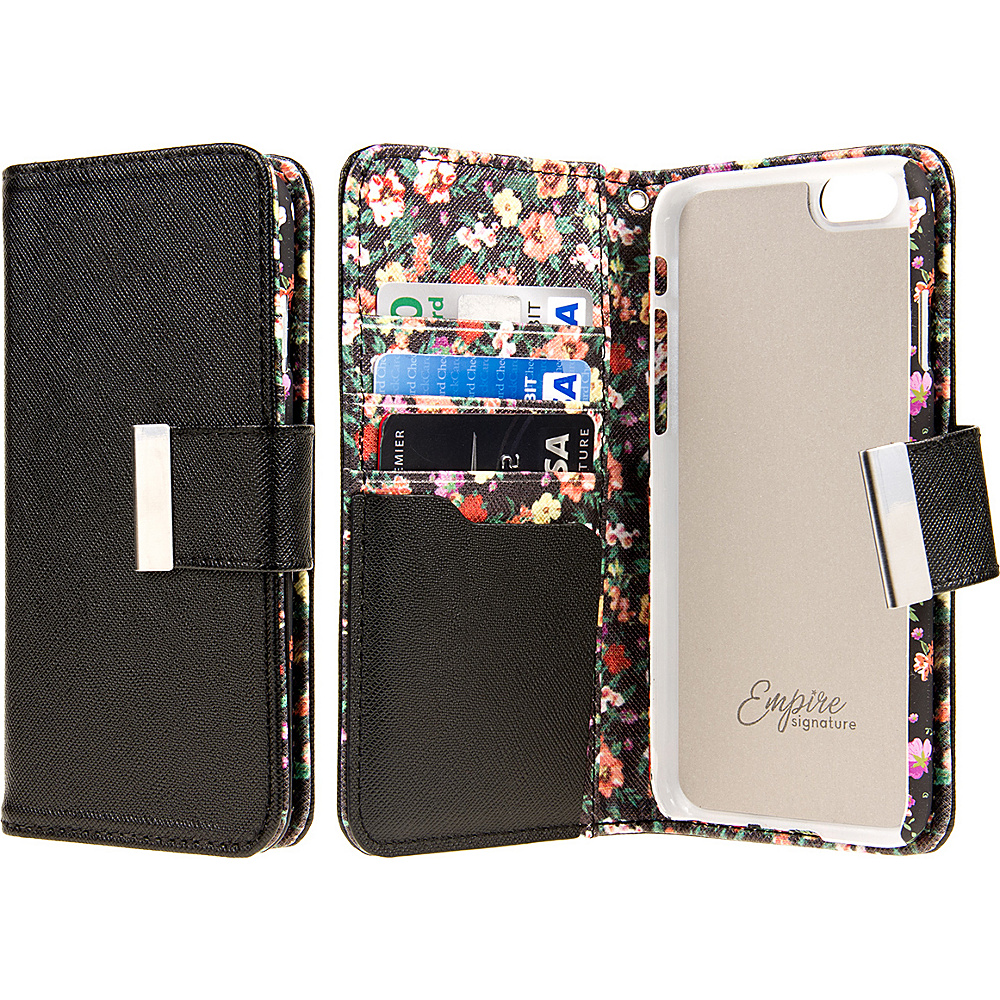 EMPIRE KLIX Klutch Designer Wallet Cases Apple iPhone 6 Plus iPhone 6S Plus Vintage Floral EMPIRE Electronic Cases