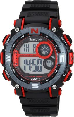 Armitron Mens Resin Watch Red - Armitron Watches