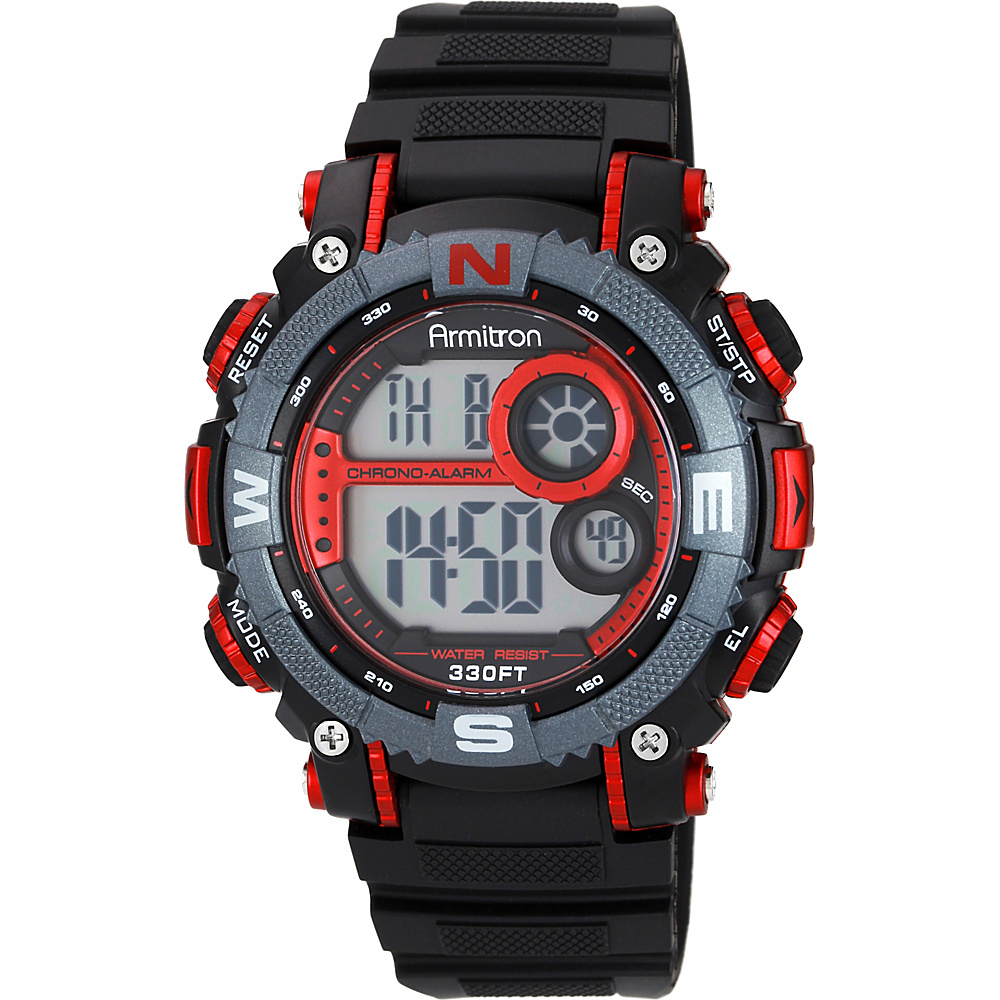 Armitron Mens Resin Watch Red Armitron Watches