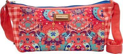Caribbean Joe Accessories Seaside Damask Crossbody Pink - Caribbean Joe Accessories Fabric Handbags