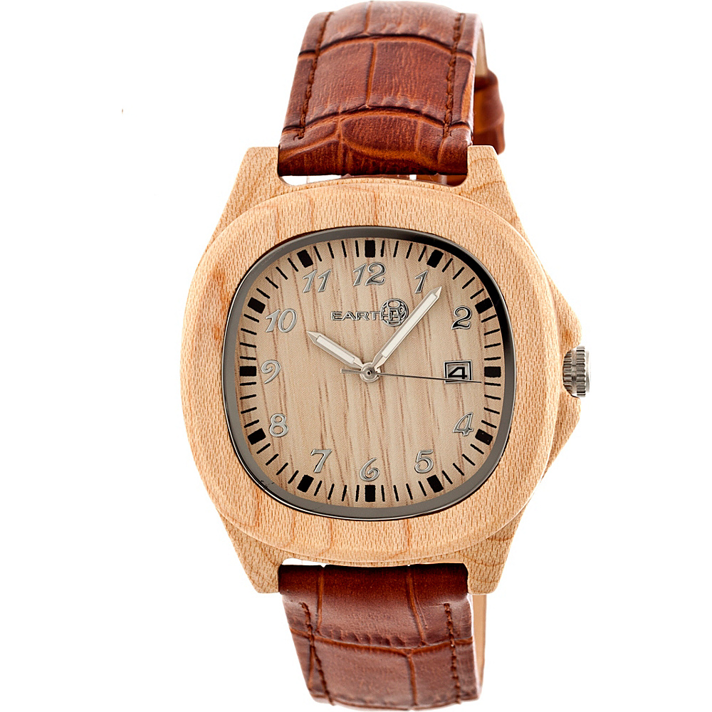Earth Wood Sherwood Strap Unisex Watch Khaki Tan Earth Wood Watches