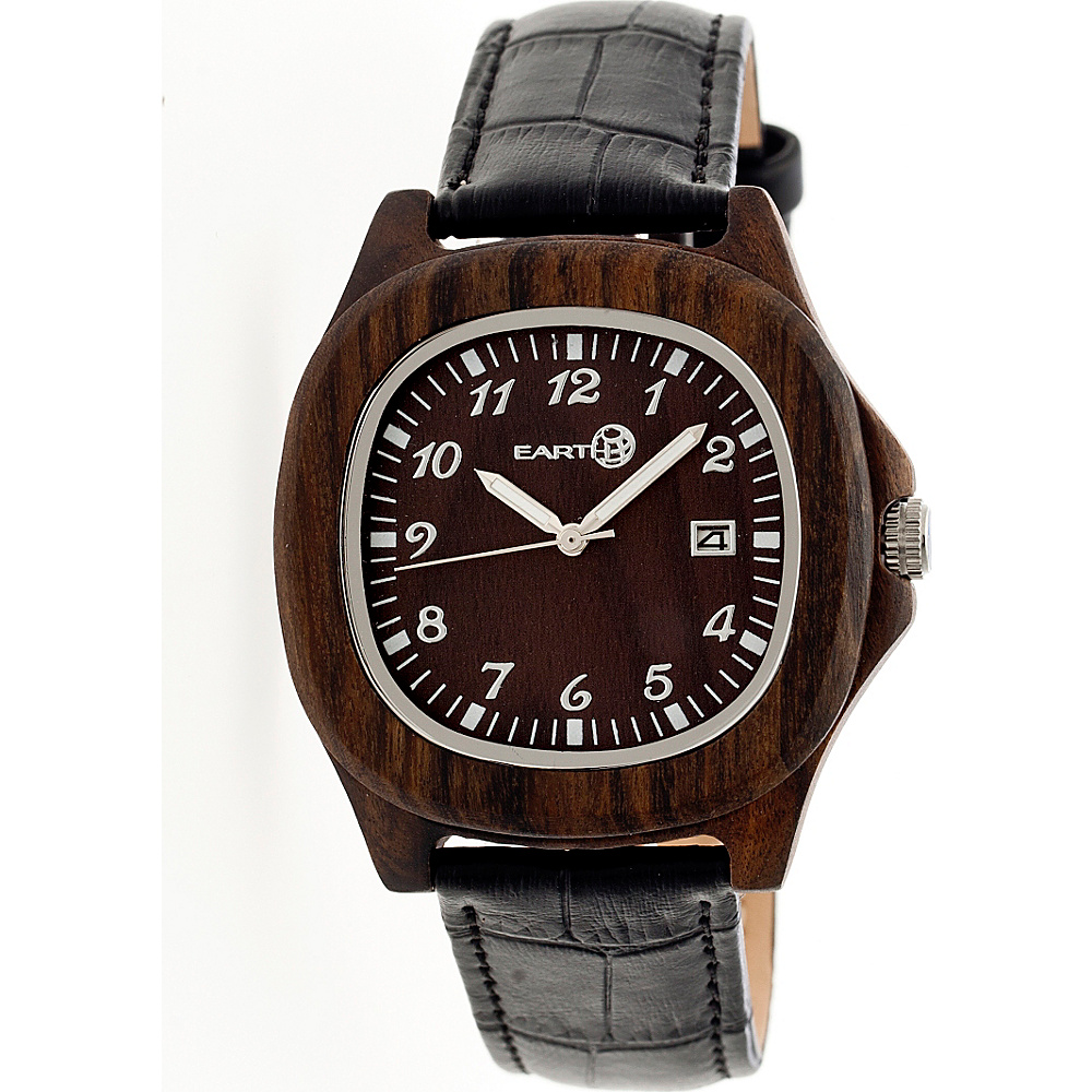 Earth Wood Sherwood Strap Unisex Watch Dark Brown Earth Wood Watches