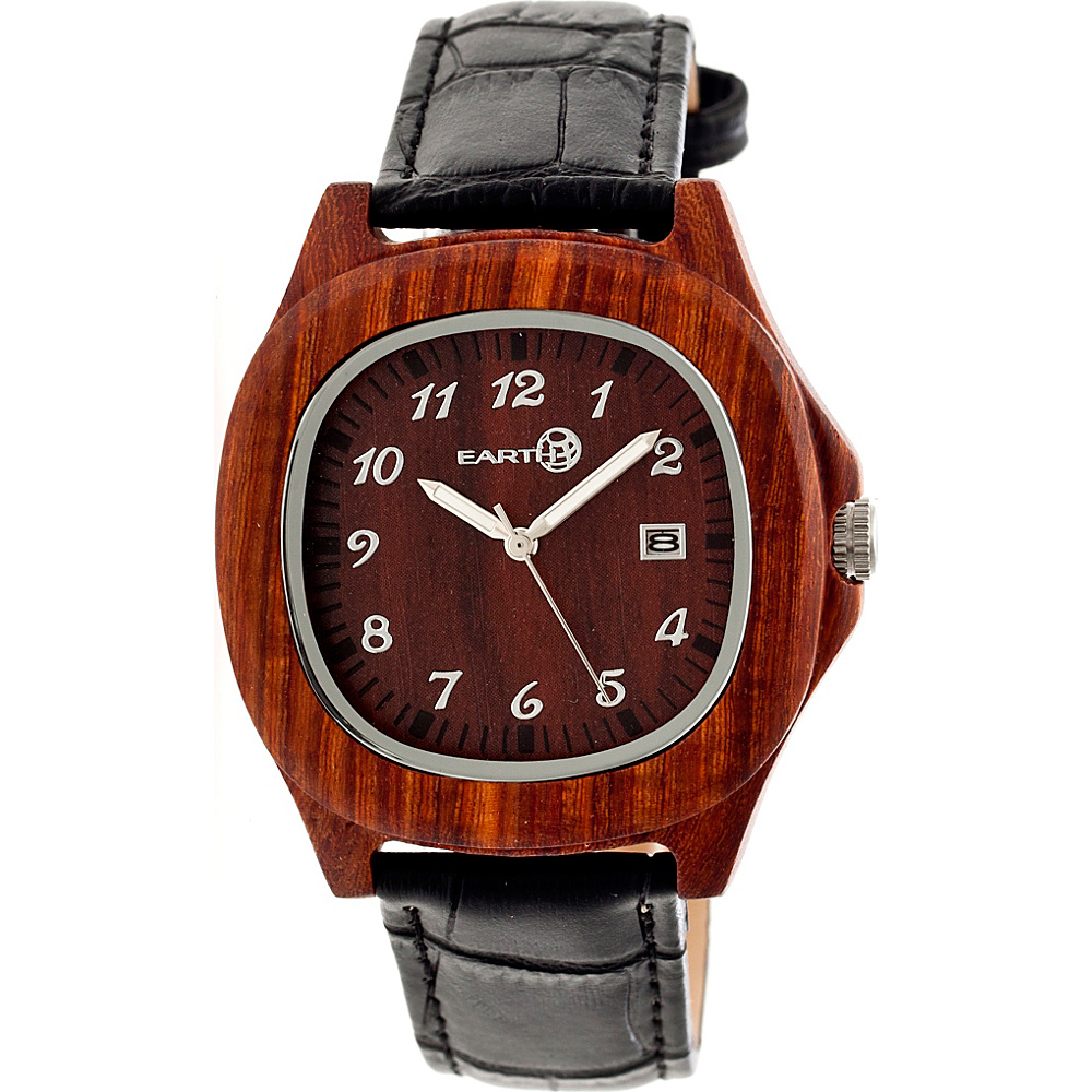 Earth Wood Sherwood Strap Unisex Watch Red Earth Wood Watches