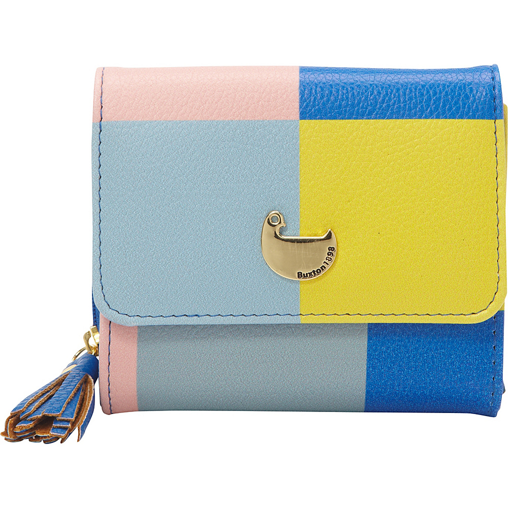 Buxton Color Block Zip French Purse Strong Blue - Buxton Womens Wallets - Women's SLG, Women's Wallets