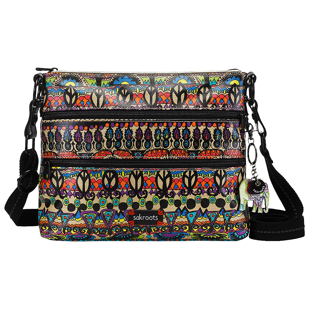 Sakroots Artist Circle Basic Crossbody Radiant One World Sakroots Fabric Handbags