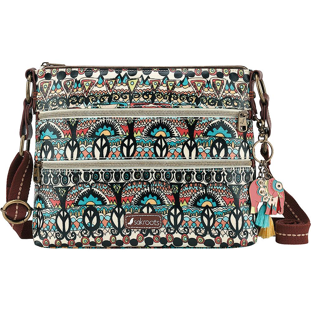 Sakroots Artist Circle Basic Crossbody Natural One World - Sakroots Fabric Handbags - Handbags, Fabric Handbags