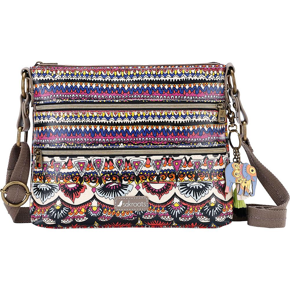 Sakroots Artist Circle Basic Crossbody Camel One World - Sakroots Fabric Handbags - Handbags, Fabric Handbags