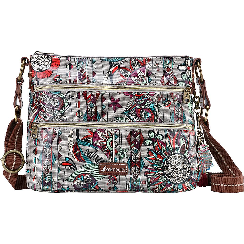 Sakroots Artist Circle Basic Crossbody Charcoal Spirit Desert - Sakroots Fabric Handbags - Handbags, Fabric Handbags