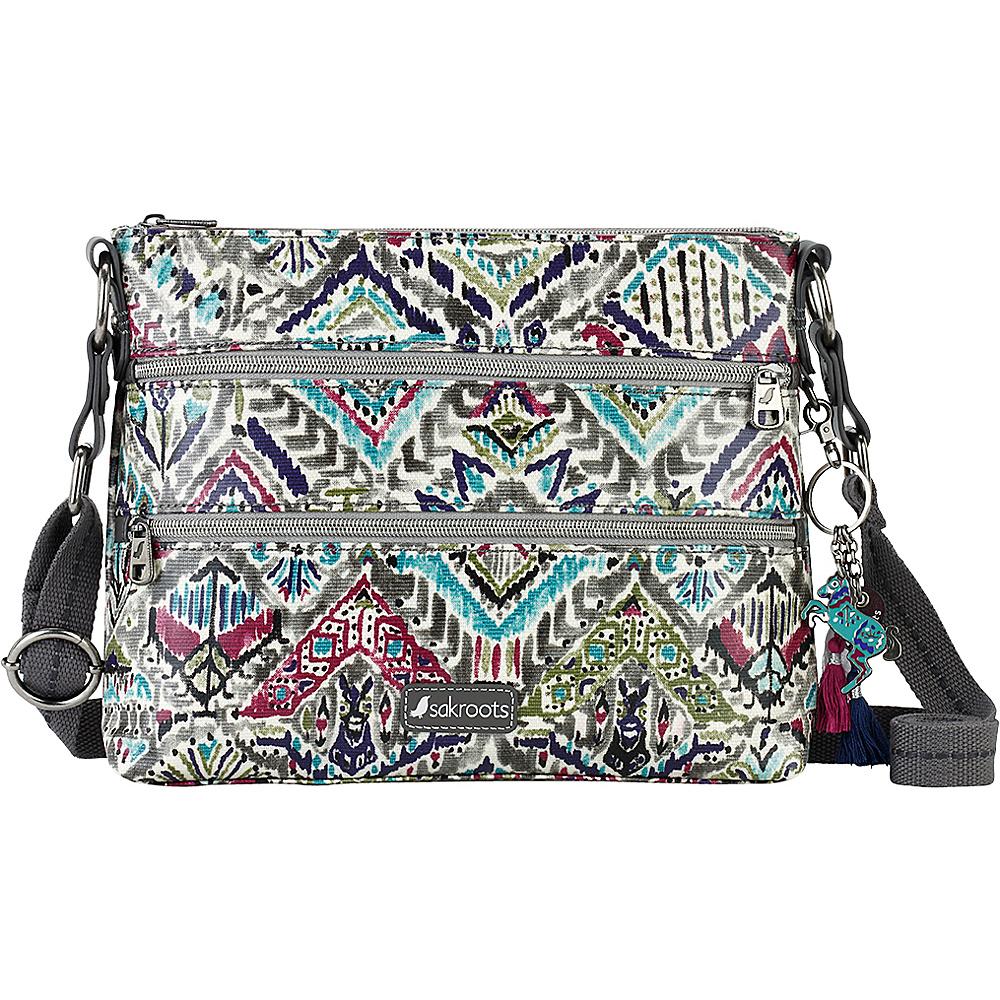 Sakroots Artist Circle Basic Crossbody Slate Brave Beauti - Sakroots Fabric Handbags - Handbags, Fabric Handbags