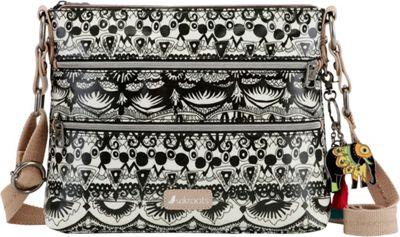 Sakroots Artist Circle Basic Crossbody Black and White One World - Sakroots Fabric Handbags