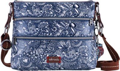 Sakroots Artist Circle Basic Crossbody Navy Spirit Desert - Sakroots Fabric Handbags