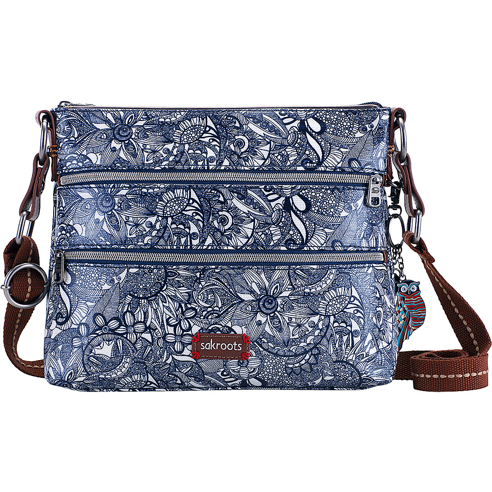 Sakroots Artist Circle Basic Crossbody Navy Spirit Desert Sakroots Fabric Handbags