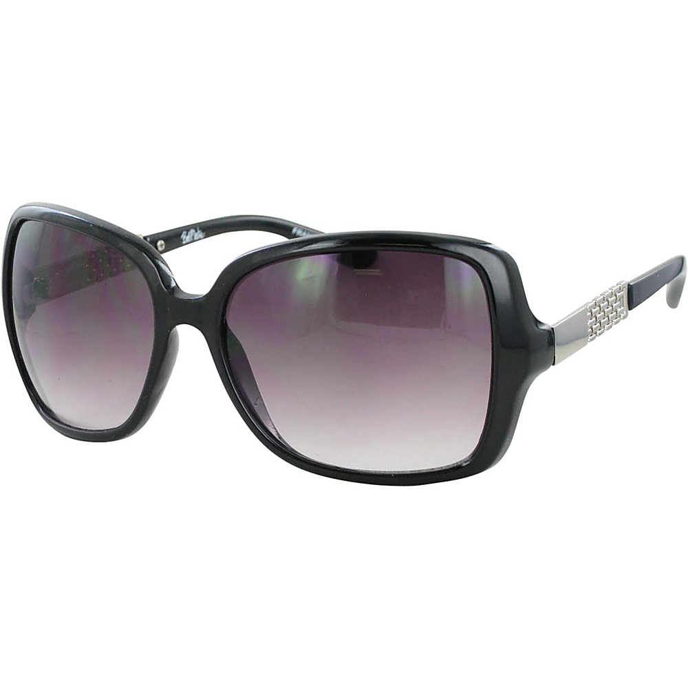 Bob Mackie Sunglasses Oversized Square Sunglasses Black and Silver - Bob Mackie Sunglasses Sunglasses