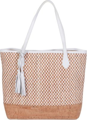 BUCO Large Cork Tote White - BUCO Leather Handbags