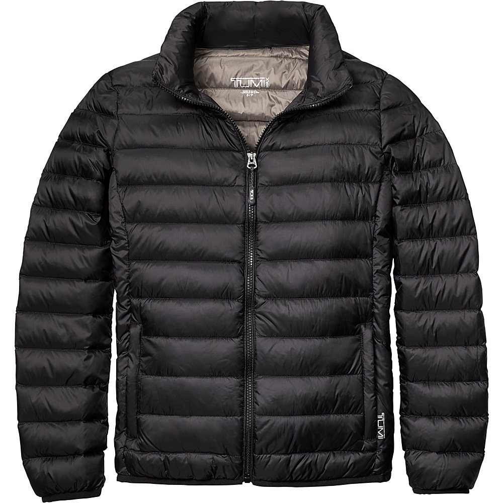 Tumi Womens Clairmont Packable Travel Puffer Jacket XL - Black - Tumi Womens Apparel - Apparel & Footwear, Women's Apparel