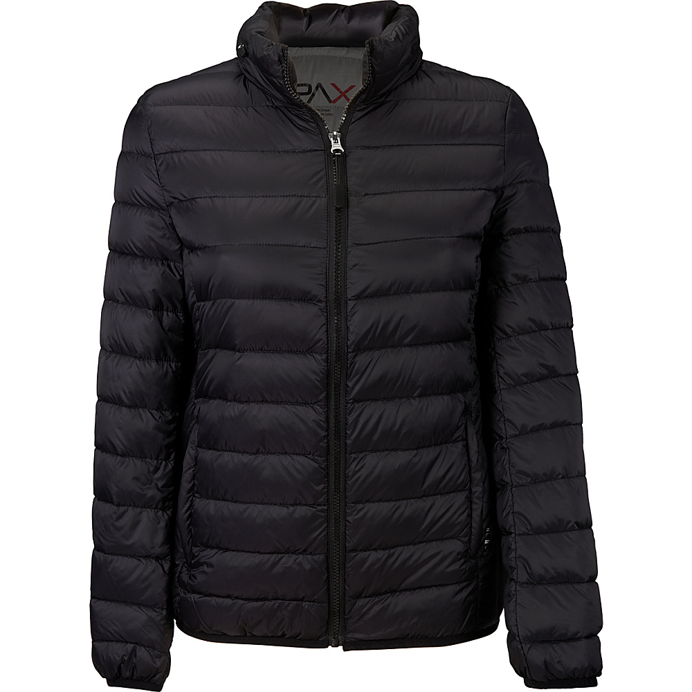 Tumi Womens Clairmont Packable Travel Puffer Jacket L - Black - Tumi Womens Apparel - Apparel & Footwear, Women's Apparel