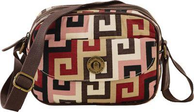 Image of Bella Taylor Ambrose Mini Messenger Crossbody Pink - Bella Taylor Fabric Handbags