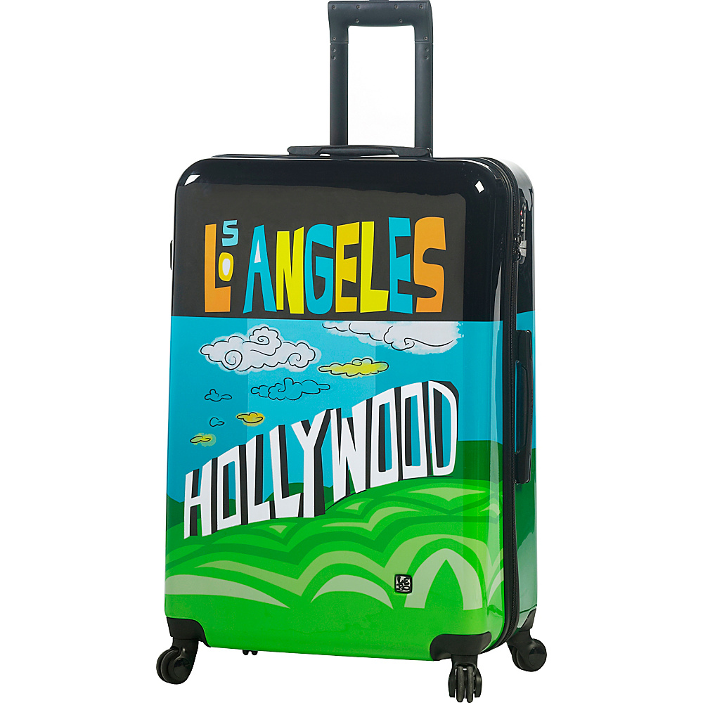 Mia Toro ITALY Lebo Destination USA 28 Luggage Multicolor Mia Toro ITALY Hardside Checked