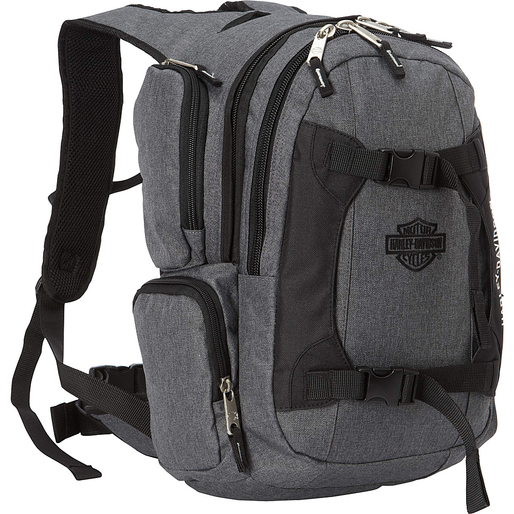 Harley Davidson by Athalon Equipt Backpack Grey/Black - Harley Davidson by Athalon Everyday Backpacks