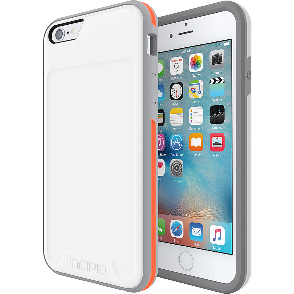 Incipio Performance Series Level 3 for iPhone 6/6s White/Orange - Incipio Electronic Cases - Technology, Electronic Cases