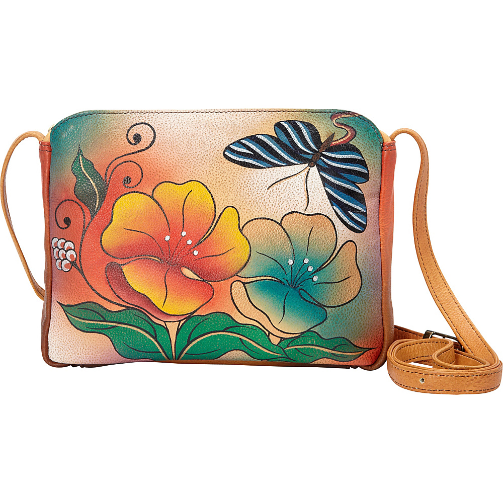 ANNA by Anuschka Hand Painted Shoulder Bag Wild Flower ANNA by Anuschka Leather Handbags