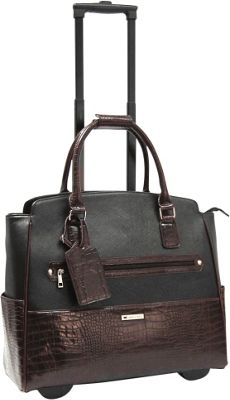 Cabrelli Darcey Duplex 15 inch Laptop Rollerbrief Black/Brown - Cabrelli Wheeled Business Cases