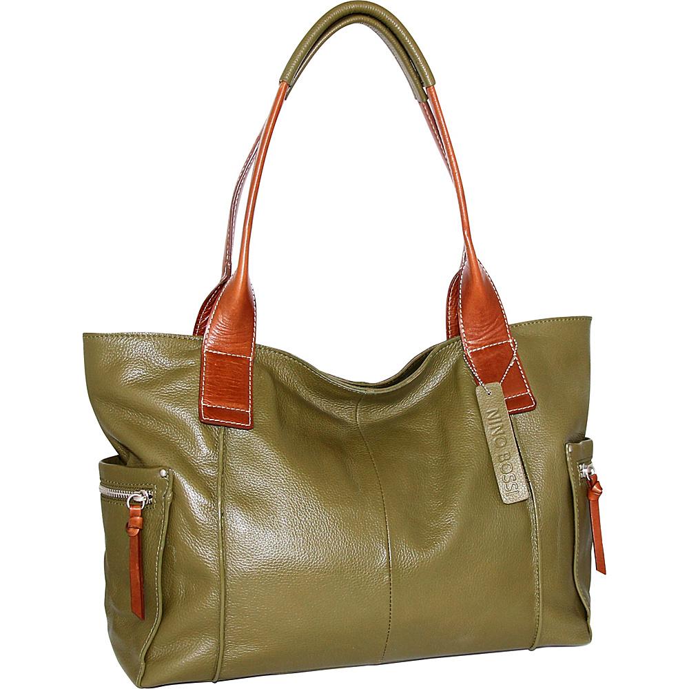 Nino Bossi Oh Cecilia Tote Loden - Nino Bossi Leather Handbags - Handbags, Leather Handbags