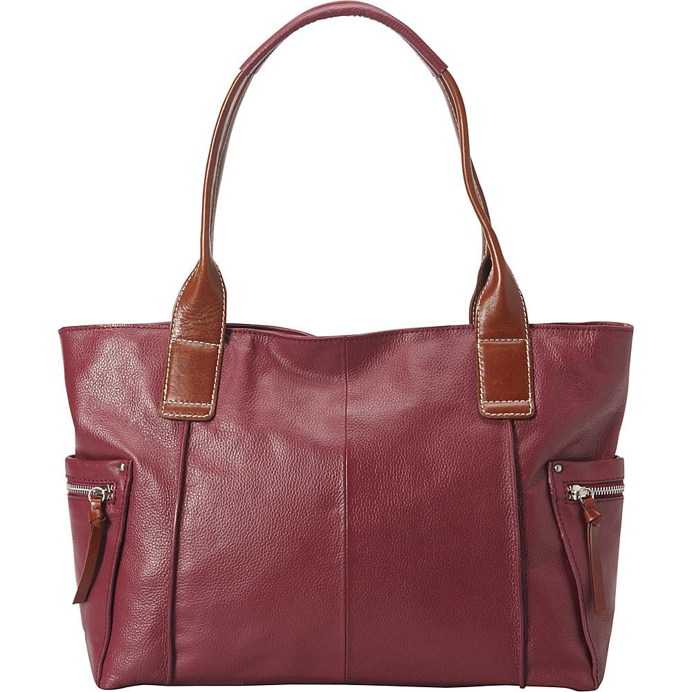 Nino Bossi Oh Cecilia Tote Merlot - Nino Bossi Leather Handbags - Handbags, Leather Handbags