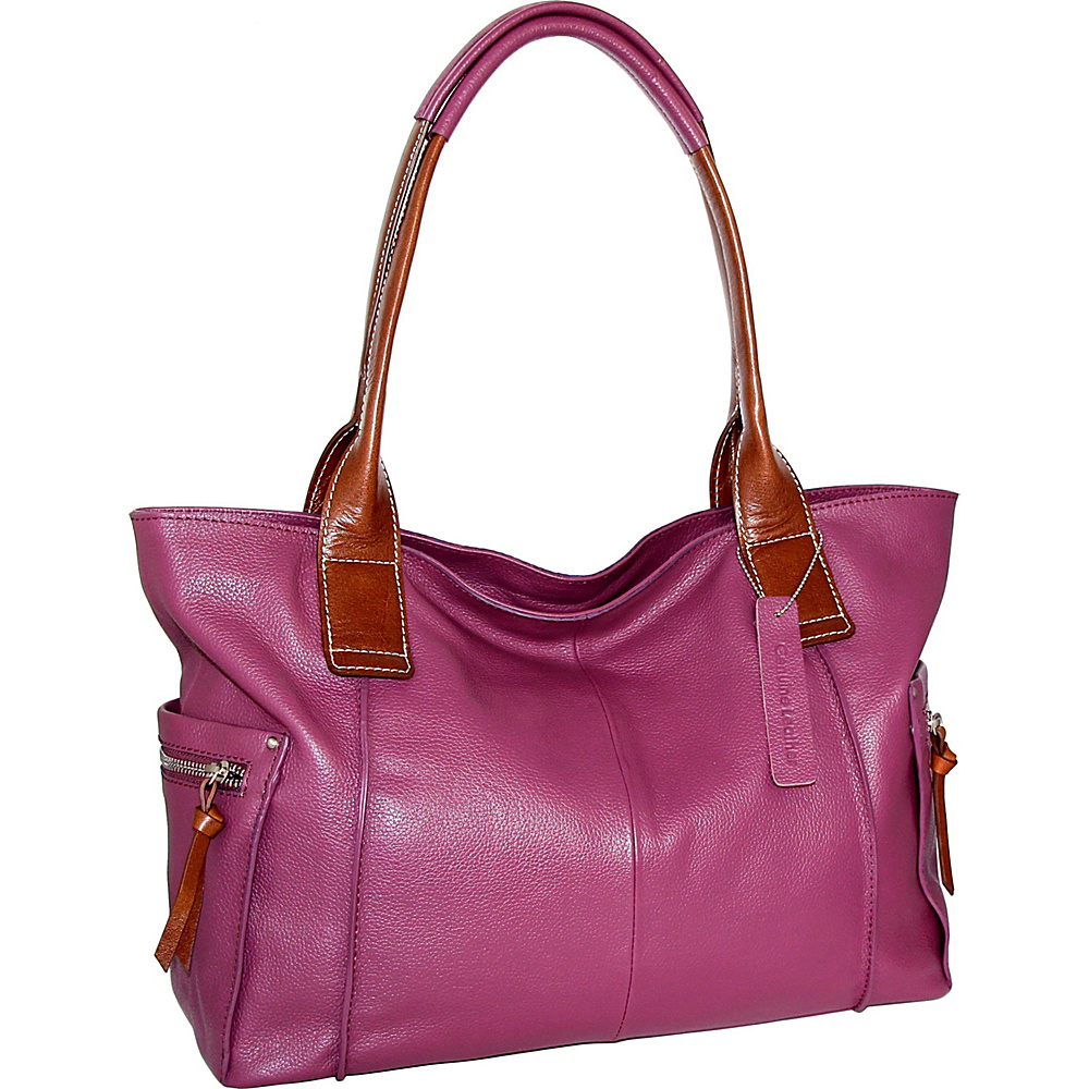 Nino Bossi Oh Cecilia Tote Viola - Nino Bossi Leather Handbags - Handbags, Leather Handbags