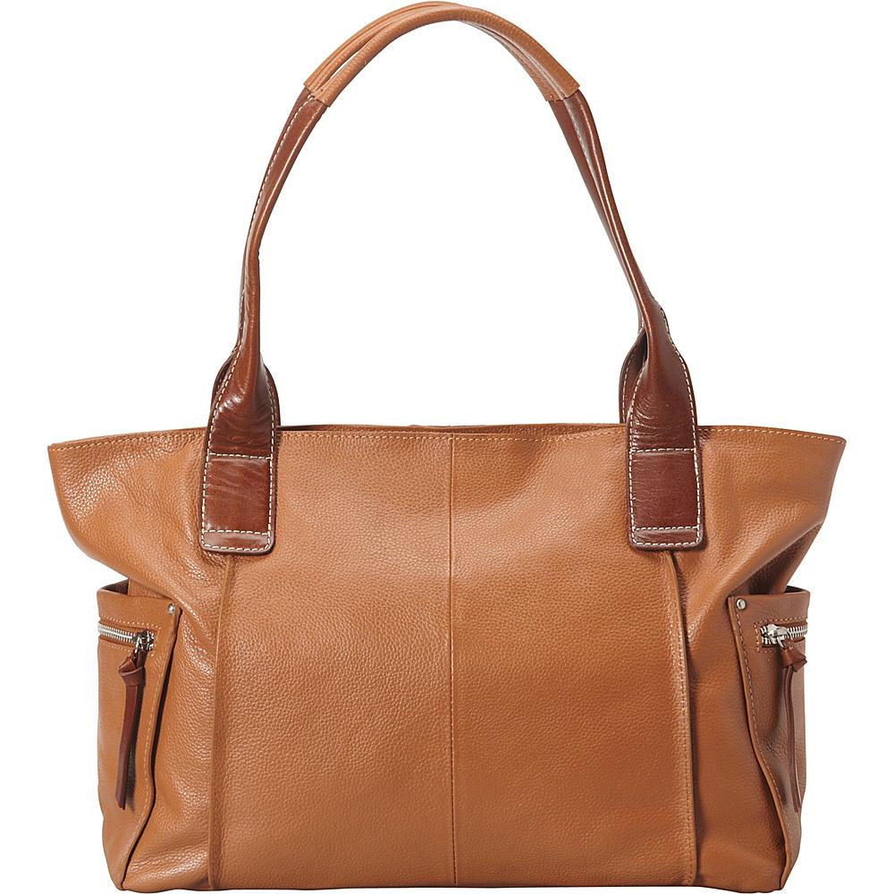 Nino Bossi Oh Cecilia Tote Cognac - Nino Bossi Leather Handbags - Handbags, Leather Handbags