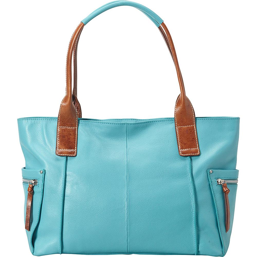 Nino Bossi Oh Cecilia Tote Turquoise - Nino Bossi Leather Handbags - Handbags, Leather Handbags