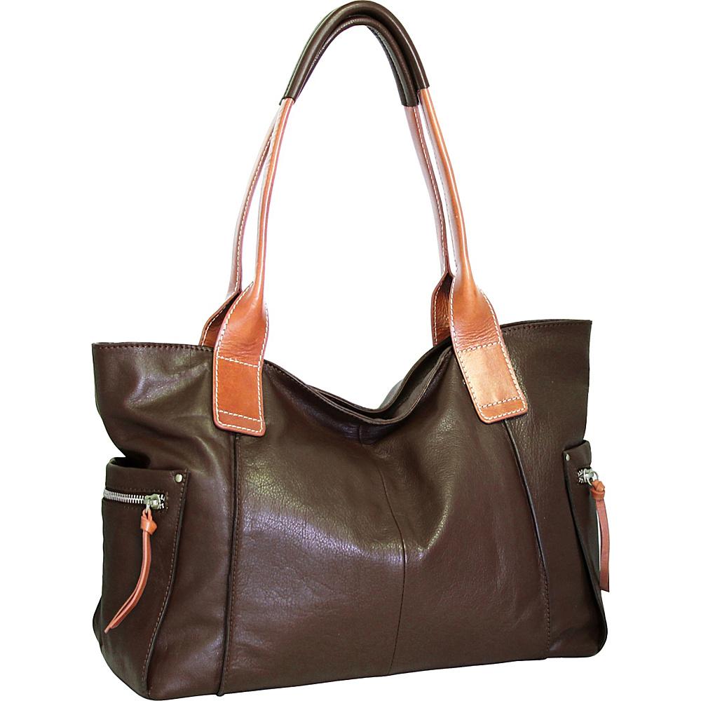 Nino Bossi Oh Cecilia Tote Chocolate - Nino Bossi Leather Handbags - Handbags, Leather Handbags