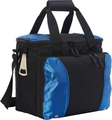 Goodhope Bags 24-Pack Cooler with Drink Tray Blue - Goodhope Bags Travel Coolers