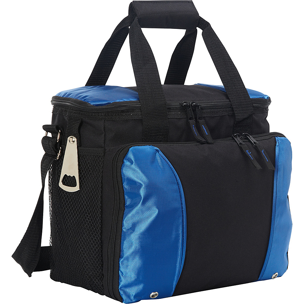 Goodhope Bags 24 Pack Cooler with Drink Tray Blue Goodhope Bags Travel Coolers