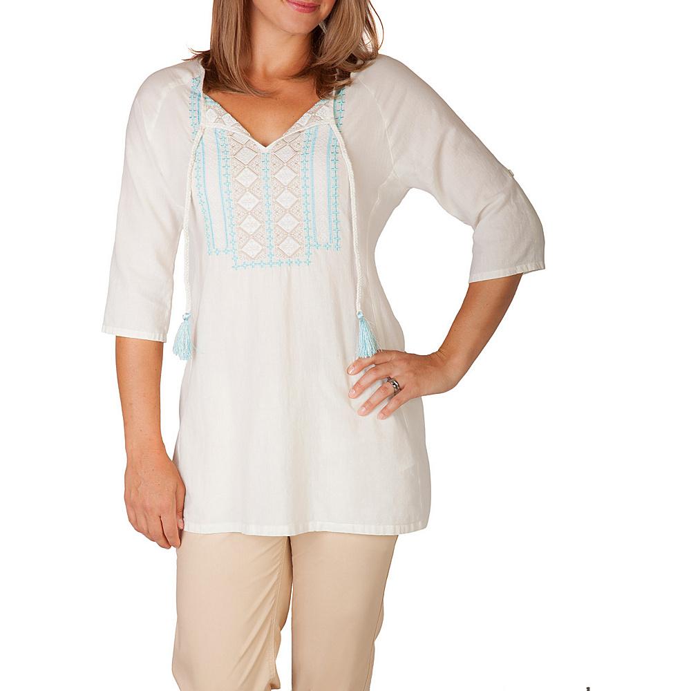Mountain Khakis Sunnyside Tunic Shirt M - Cream - Mountain Khakis Womens Apparel - Apparel & Footwear, Women's Apparel