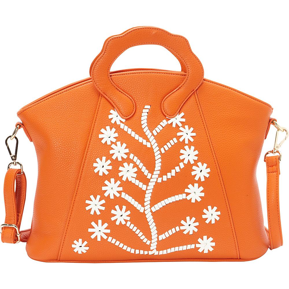 Ann Creek Women s Flake Tote Bag Orange White Ann Creek Manmade Handbags