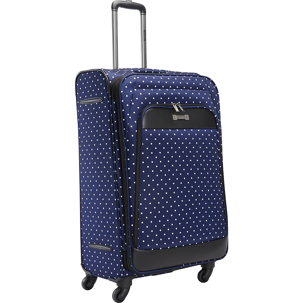 Kenneth Cole Reaction Dot Matrix 28 Luggage Navy White Polka Dot Kenneth Cole Reaction Softside Checked