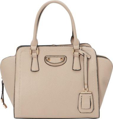 La Diva Olivia Satchel BEIGE - La Diva Manmade Handbags